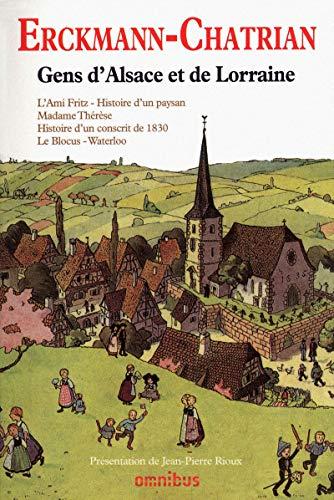 Gens d'Alsace et de Lorraine (French Edition): Erckmann-Chatrian