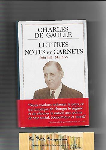 9782259013062: Lettres, notes et carnets : Tome 7, Juin 1951 à mai 1958