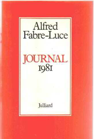 Journal 1981 (French Edition): Fabre-Luce, Alfred
