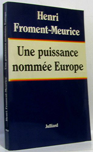 9782260003595: Une puissance nommee europe