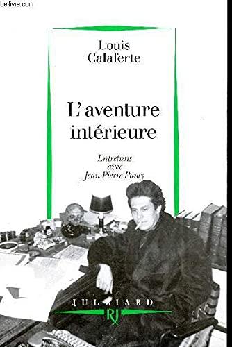 9782260012351: L'aventure intérieure: Entretiens avec Jean-Pierre Pauty (French Edition)