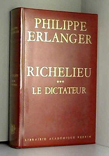 Richelieu dictateur t.3 ski: Erlanger