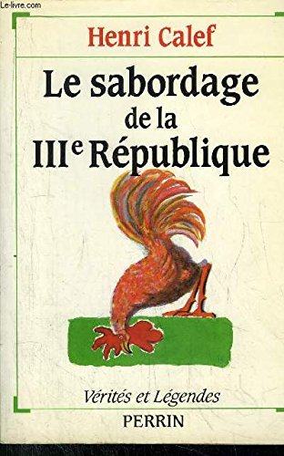 9782262005191: Le Sabordage de la Troisi�me R�publique