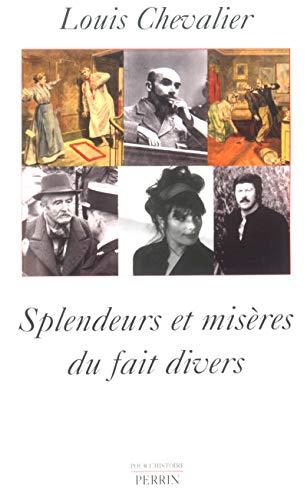 9782262019389: Splendeurs et misères du fait divers (French Edition)