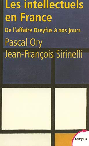 9782262022358: Les Intellectuels En France De L'Affaire Dreyfus a Nos Jours (French Edition)