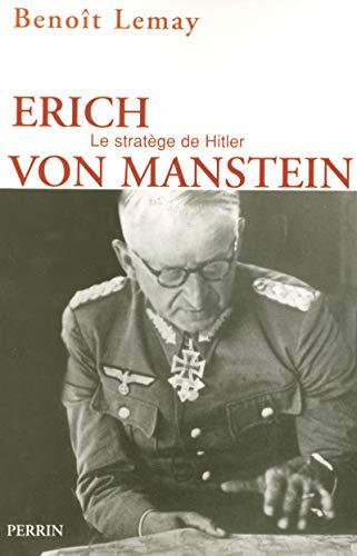 9782262023447: Erich von Manstein (French Edition)
