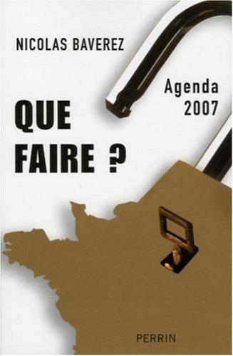 9782262025205: Que Faire? Agenda 2007