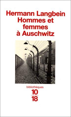 9782264025722: Hommes et femmes à Auschwitz