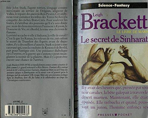 9782266029933: Le secret de Sinharat (Le Livre de Mars, Tome 2)