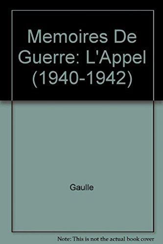 9782266034425: MEMOIRES DE GUERRE -L'APPEL 1940-1942 (Best)