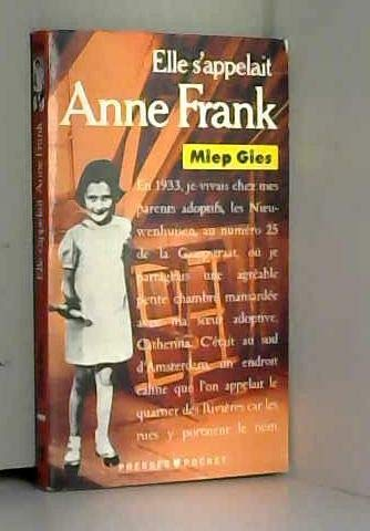 9782266034777: Elle s'appelait anne frank