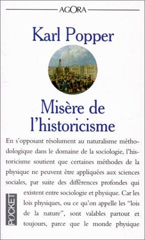 9782266043786: MISERE DE L'HISTORICISME