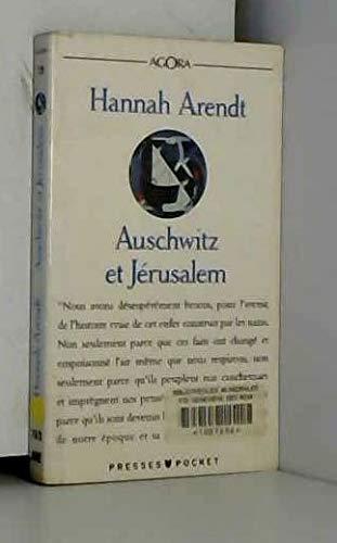 9782266051163: Auschwitz et Jérusalem