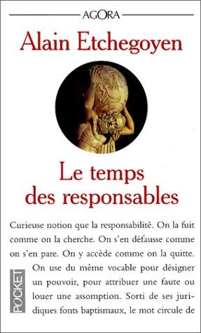 9782266067485: Le Temps des responsables