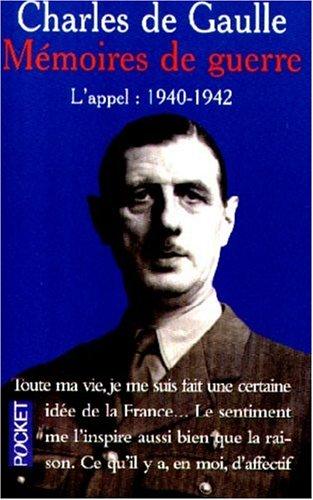 9782266095266: MEMOIRES DE GUERRE. Tome 1, L'appel, 1940-1942 (Pocket)