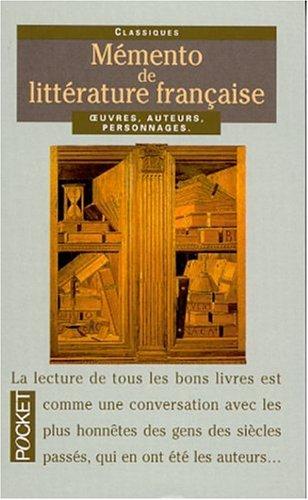 9782266105361: Mémento d'histoire de littérature française