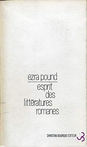 9782267004274: Esprit des Litt�ratures romanes: Essai