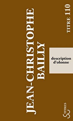 DESCRIPTION D OLONNE: BAILLY JEAN CHRISTOP