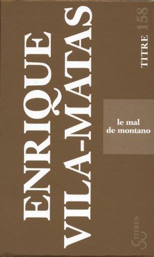 9782267023961: Le mal de Montano