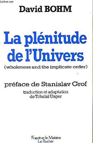 9782268005850: La Pl�nitude de l'univers
