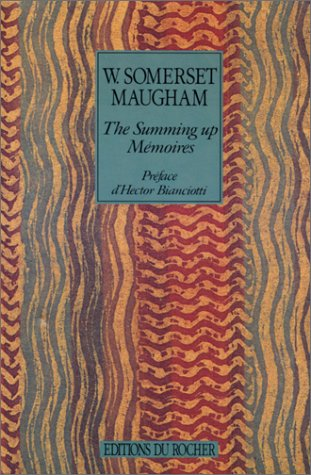 The summing up (Nouvel Alphée): Maugham, William Somerset