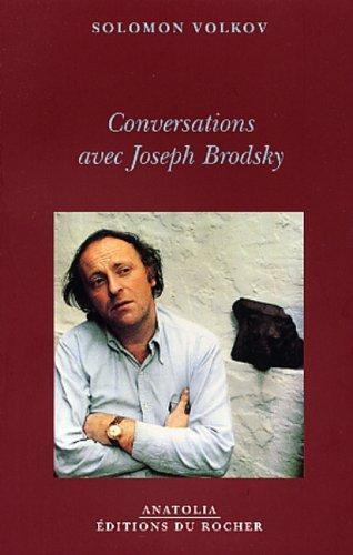 Conversation avec Joseph Brodsky (2268041719) by Solomon Volkov