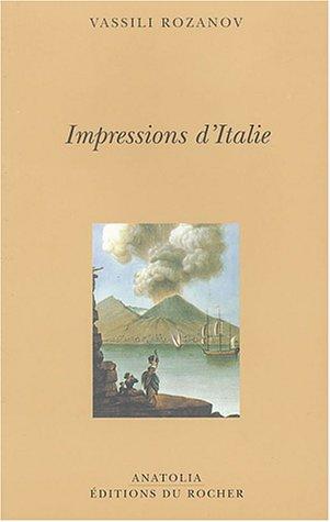 9782268049243: Impressions d'Italie