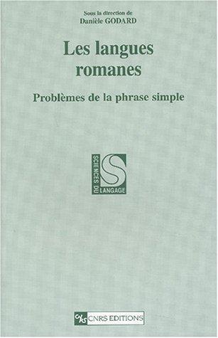 9782271061492: Langues romanes : Probl�mes de la phrase simple