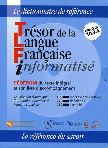 9782271063656: Trésor de la Langue Française informatisé (1Cédérom) (French Edition)