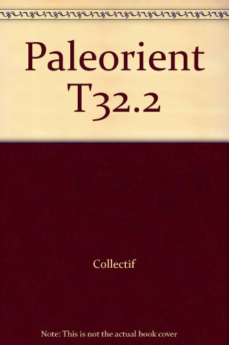 Paleorient T32.2: Collectif