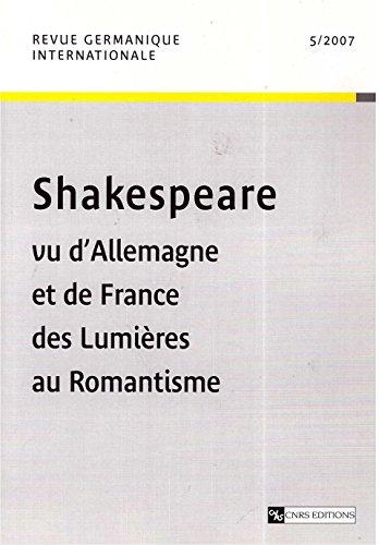 9782271065322: Revue Germanique Internationale 5-2007