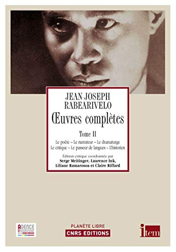 oeuvres complètes t.2: Rabearivelo Jean-Jos