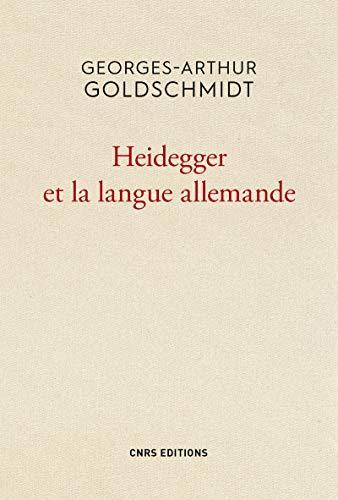 9782271088147: Heidegger et la langue allemande