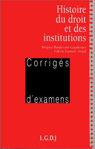 9782275001067: Histoire du droit et des institutions