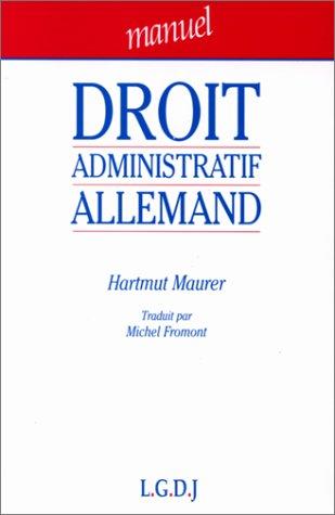 9782275003481: Droit administratif allemand