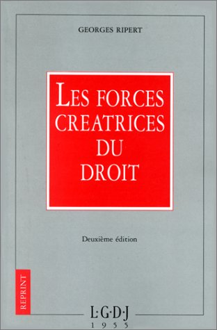 9782275004631: Les forces créatrices du droit