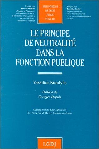 Le Principe de neutralité dans la fonction publique: Kondylis