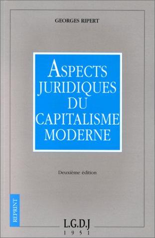 9782275005577: Aspects juridiques du capitalisme moderne
