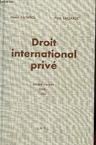 9782275013138: Droit international prive (French Edition)