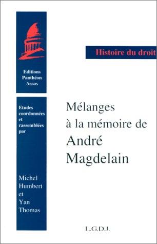 9782275016894: Mélanges de droit romain et d'histoire ancienne: Hommage à la mémoire de André Magdelain (Histoire du droit) (French Edition)