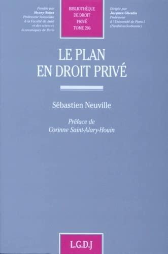 9782275017013: Le plan en droit priv�