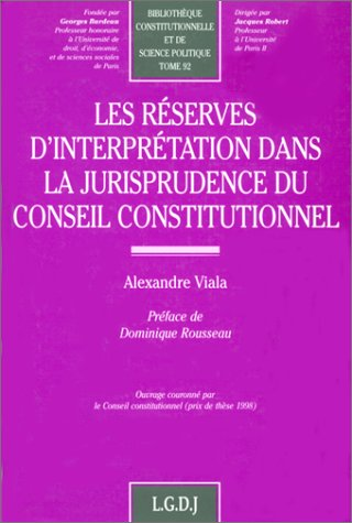 Reserv.interpr.jur.cons.const. (French Edition): Alexandre Viala