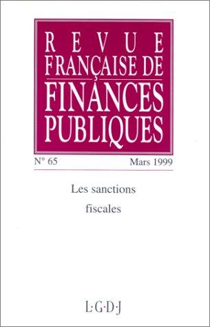revue fse financ.pub.65-1999