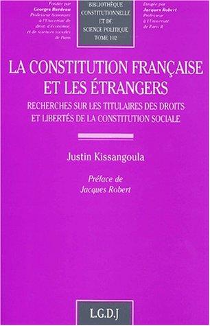 Conseil, constitution et étrangers: Kissangoula