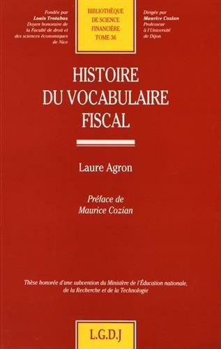 Histoire du vocabulaire fiscal, numéro 36: Agron