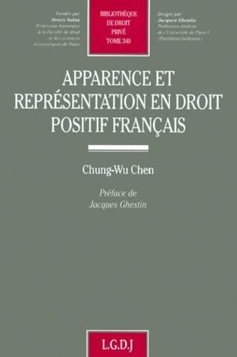 Apparence et representation en droit positif francais (Bibliotheque de droit prive) (French Edition...