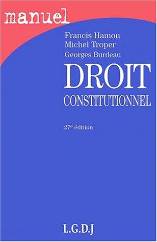9782275020525: Droit constitutionnel 27e ed.(2001)