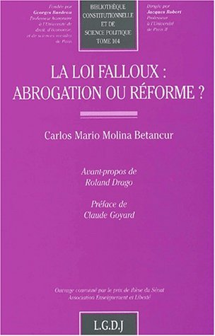 Loi falloux : abrogation ou reforme ?: Molina, C.