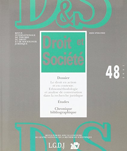 revue droit et societe sciences sociales t.48