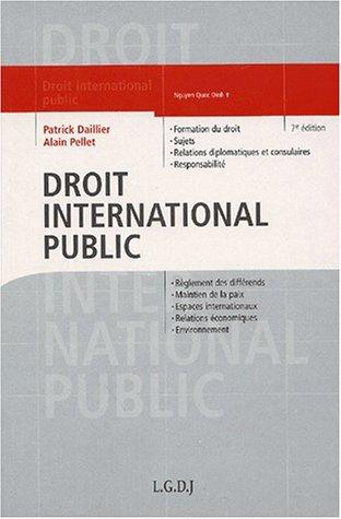9782275021744: Droit international public, 7e édition